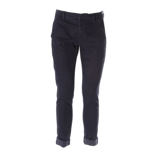 DONDUP mens dark blue cotton Chino trousers
