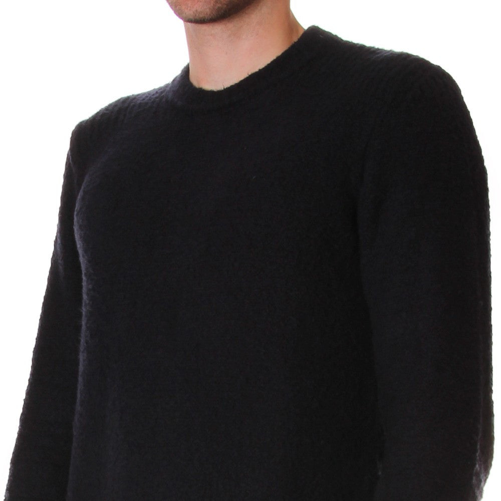ROBERTO COLLINA mens blue cotton elasticized Sweater