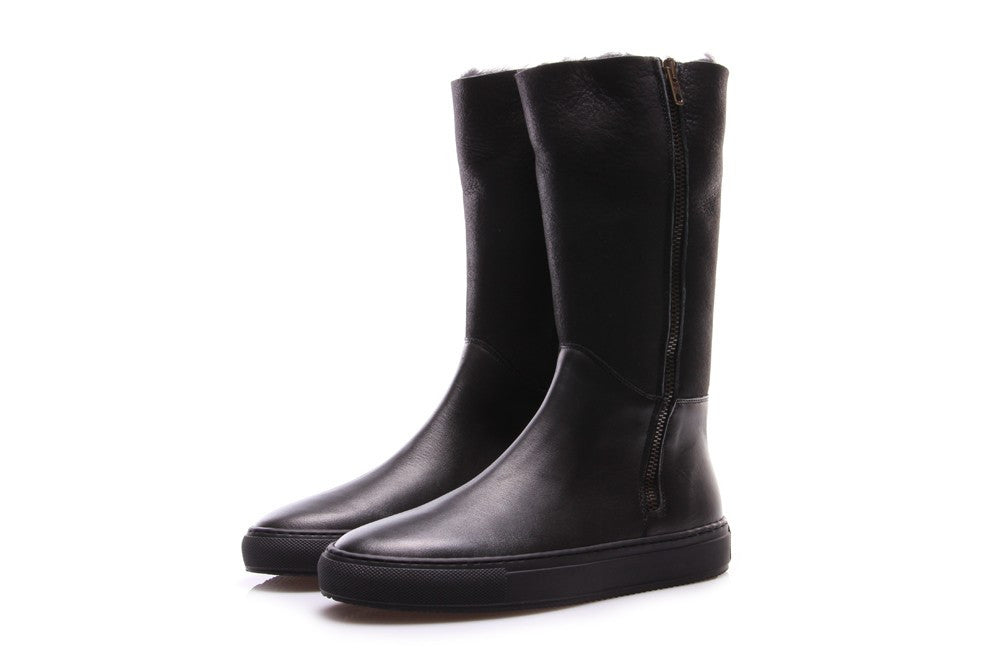MANOVIA 52 womens black suede Boots total