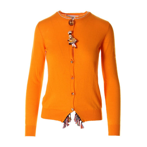 VIRNA DRO' women Cardigan orange jewels buttons