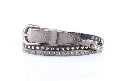 MINORONZONI1953 womens grey studded Belt