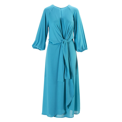 SOALLURE womens turquoise polxester Midi dress