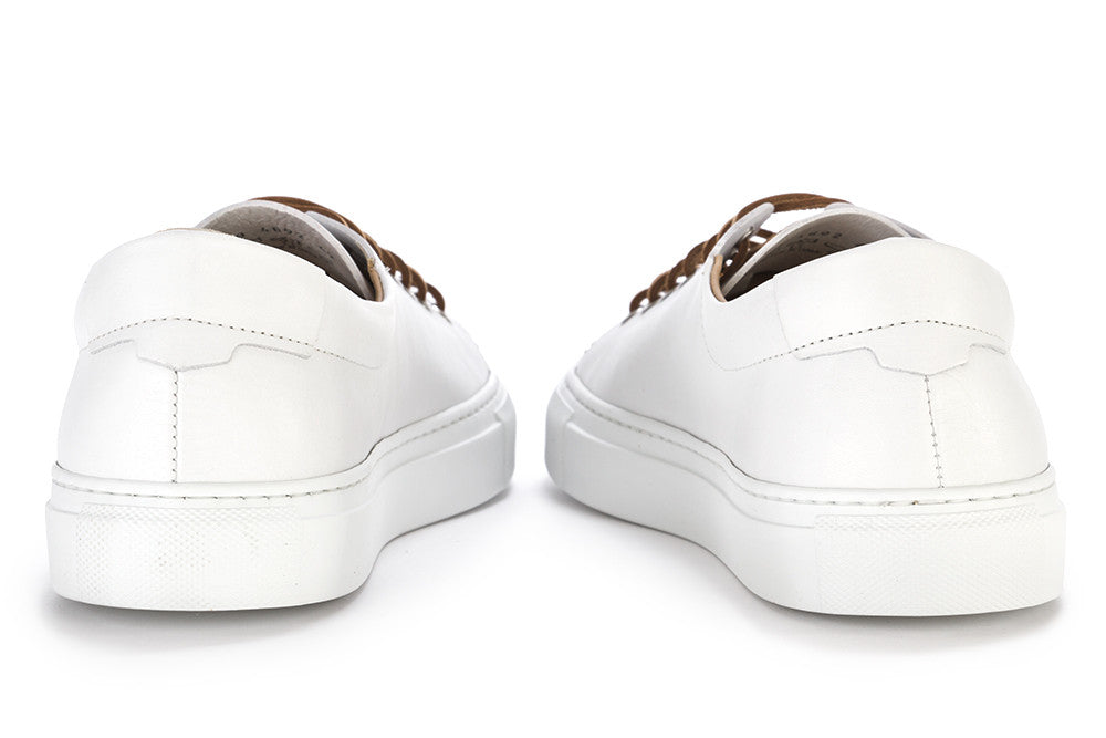 MANOVIA 52 mens total white leather Sneakers