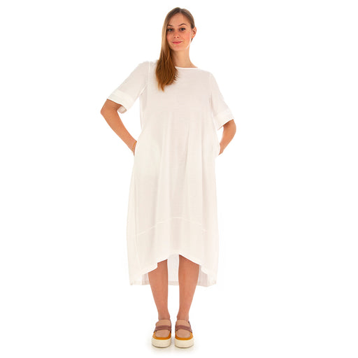 BIONEUMA | DRESS WHITE JERSEY COTTON