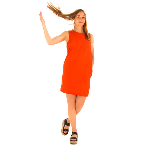 manila grace womens dress viscose orange