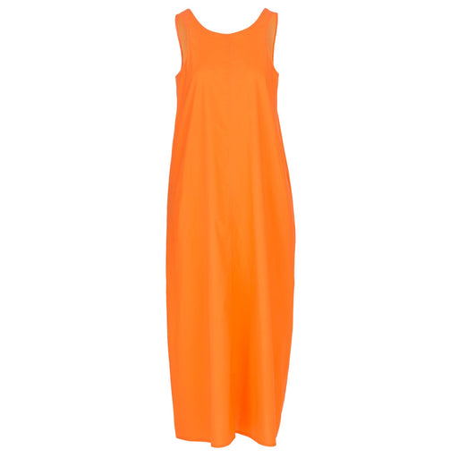 1978 womens long dress rita orange fluo