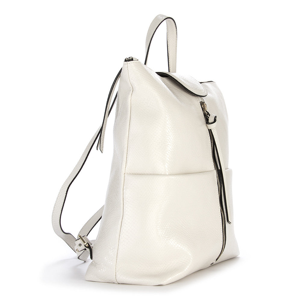 GIANNI CHIARINI womens white leather Backpack