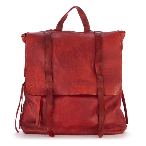 MANUFATTO ITALIANO 1956 womens red leather Backpack