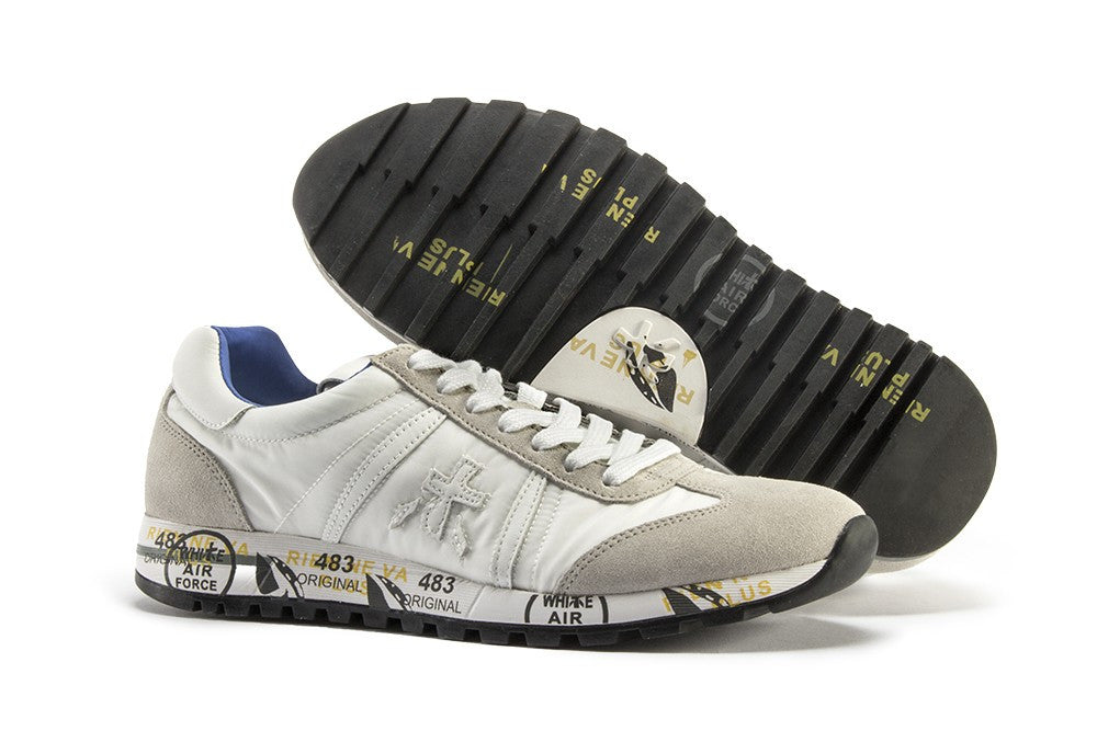 PREMIATA womens white light grey Lucy-d sneakers