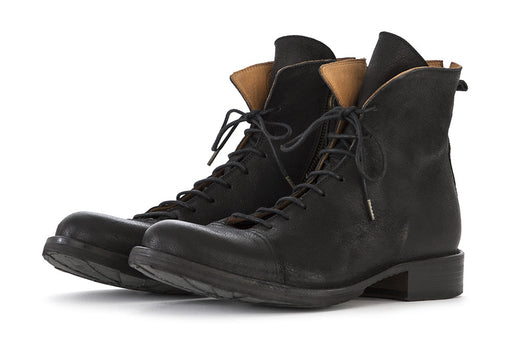 FIORENTINI + BAKER mens black Lace-up ankle boots