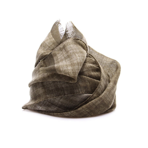 DANDY STREET mens olive green wool Scarf