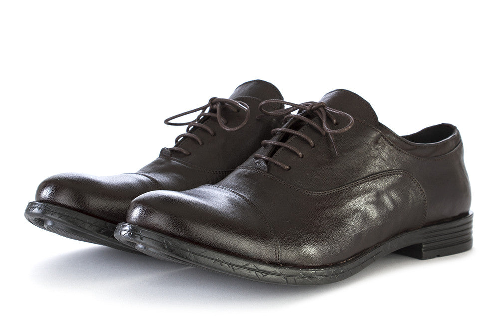 TON GOUT Mens dark brown leather Oxford