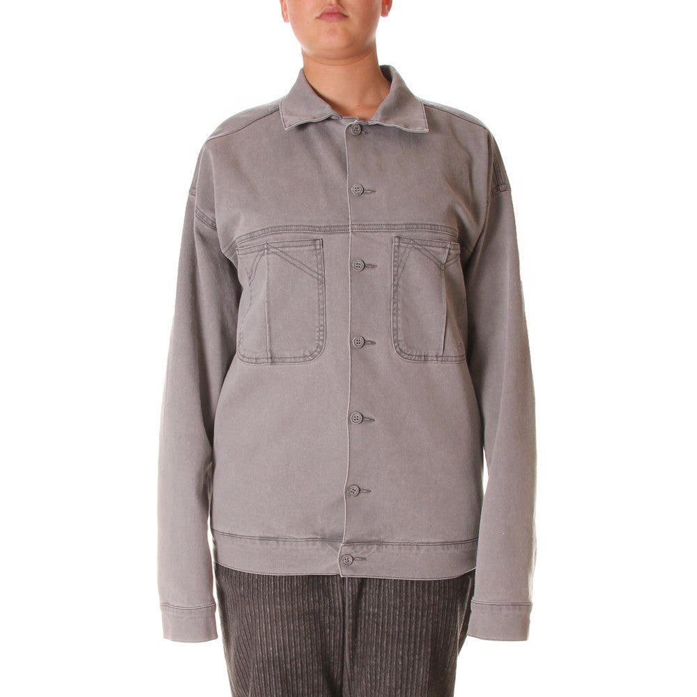 WRAD grey Denim jacket organic cotton graphite powder