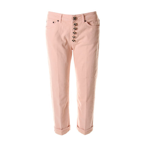 DONDUP womens pink cotton Pants