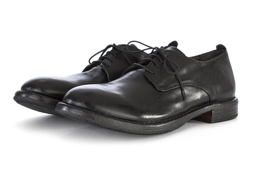 MOMA mens black leather Derby shoes