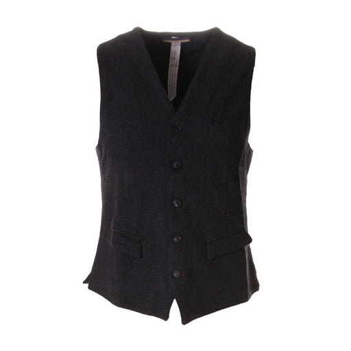 MASON'S mens dark grey viscose Vest