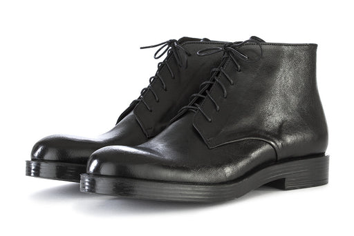 Ton Gout mens black leather lace ankle boots