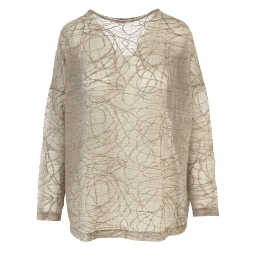 BIONEUMA womens beige grey merino wool Sweater