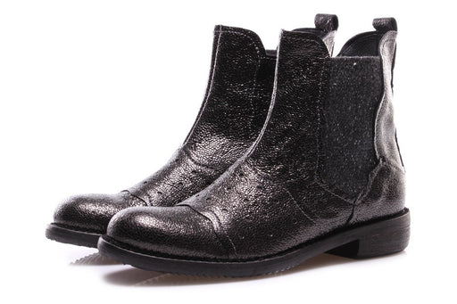 CLOCHARME womens black leather Chelsea boots
