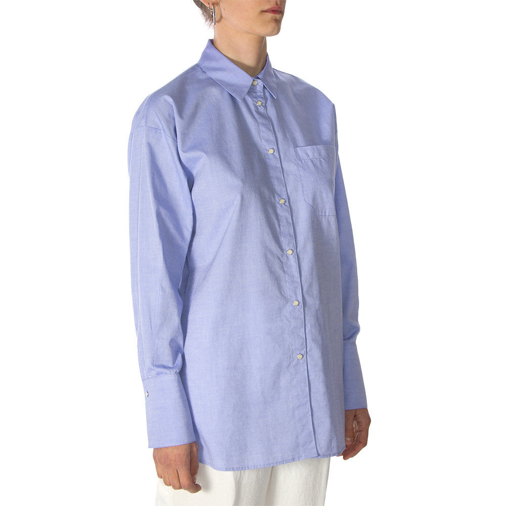 MERCI womens light blue cotton Shirt