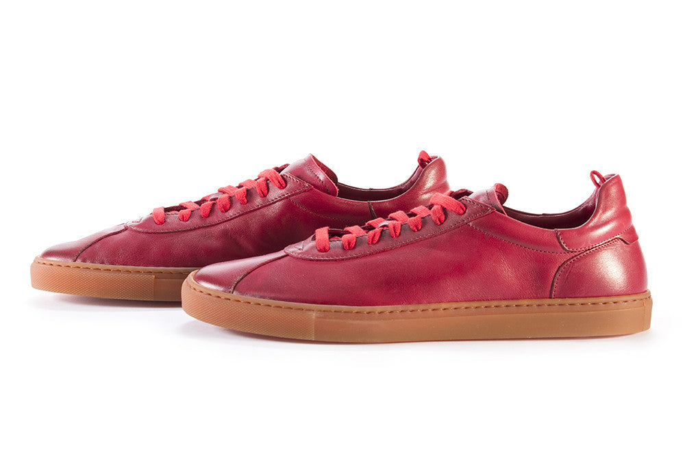 MANOVIA 52 mens red leather Sneakers