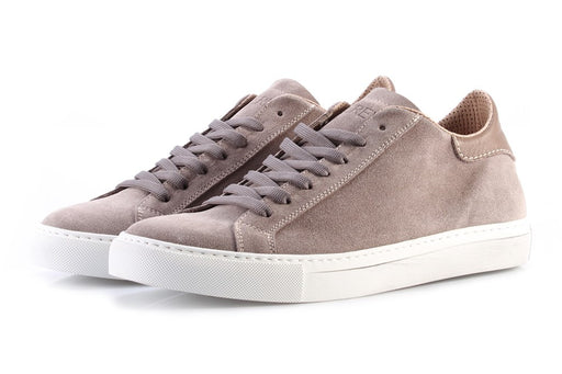 LEREW'S mens taupe suede Sneakers