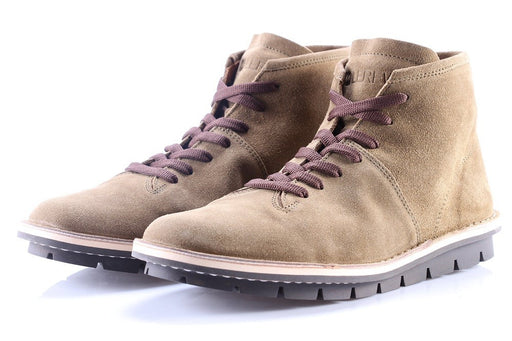 LEREW'S mens beige Lace-up ankle boots