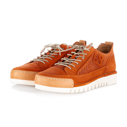 bng real shoes men's flat shoes orange