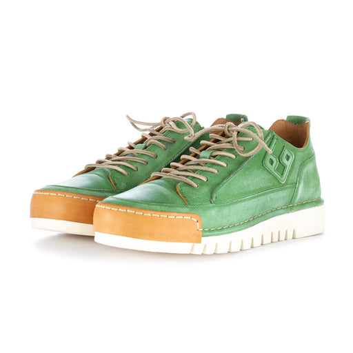 bng real shoes la menta green leather