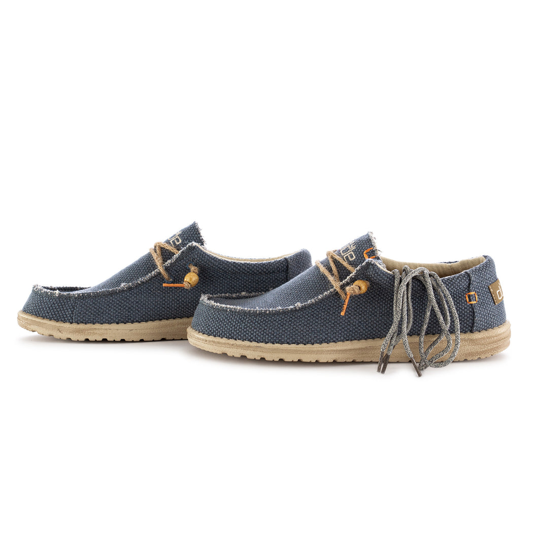 hey dude shoes mens flat shoes wally braided blue