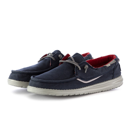 hey dude mens shoes dark blue