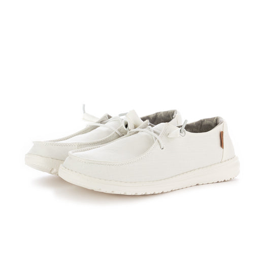 hey dude shoes womens flat shoes wendy chambray white