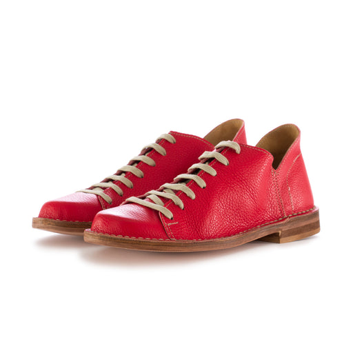 manufatto toscano vinci womens flat shoes leather red