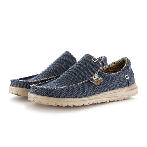mens flat shoes mikka braided blue