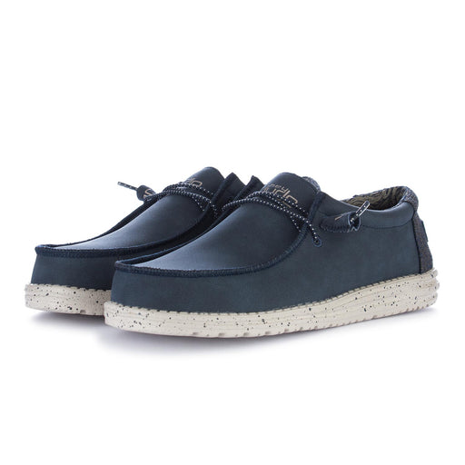 mens flat shoes wally recycled blue