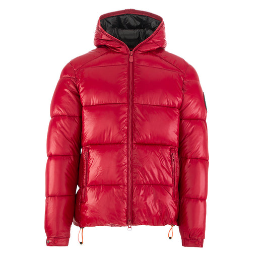 SAVE THE DUCK men's jacket glossy red