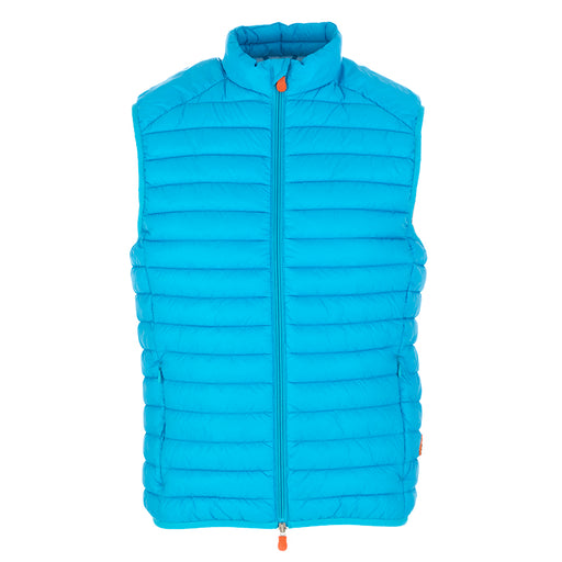 Save The Duck men's vest turquoise nylon