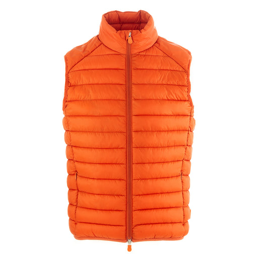 save the duck mens puffer vest orange