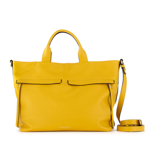 gianni chiarini womens handbag yellow leather