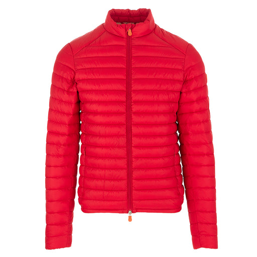 Save The Duck men's jacket bright red nylon