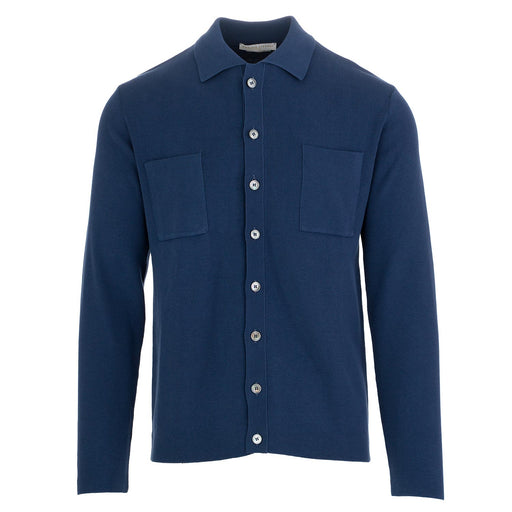 daniele fiesoli men's knitwear shirt blue