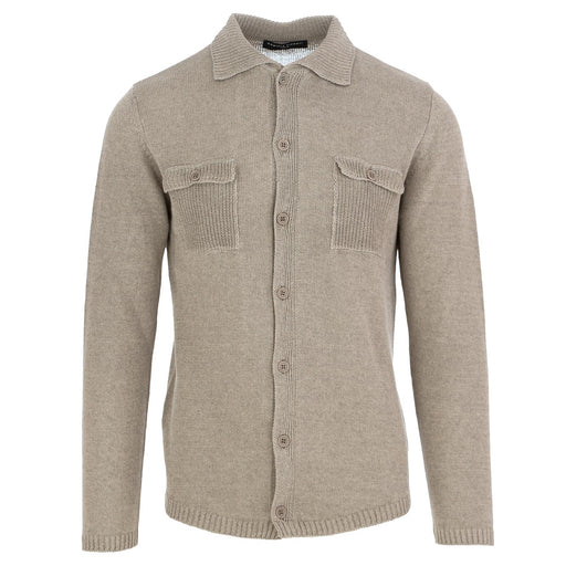 daniele fiesoli men's knitwear shirt grey