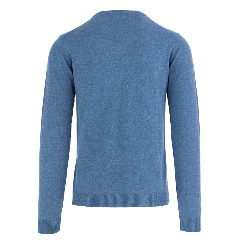 wool & co mens sweater cotton light blue