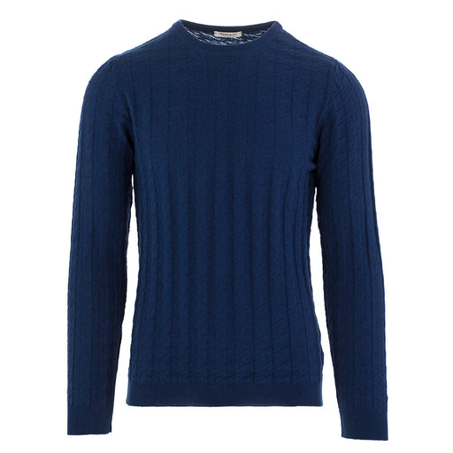 wool & co mens sweater cotton blue navy