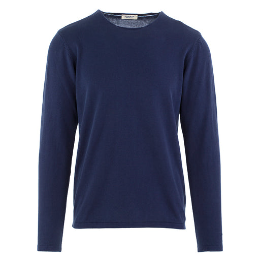 wool & co mens sweater cotton blue