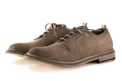 officine creative mens ace-up shoes leather suede grey