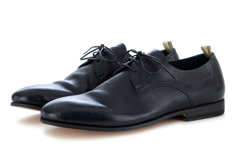 officine creative mens lace-up shoes leather blue navy