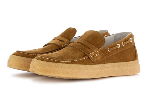 Oa Non-Fashion mens loafers khaki suede