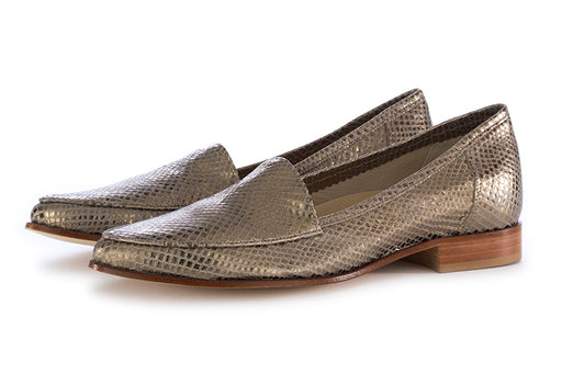 L'Arianna womens loafers grey leather