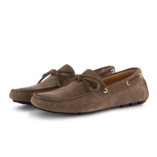 manovia 52 mens loafers suede brown karibu